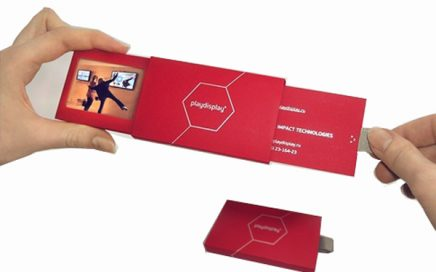 2.4inch Pull out style video card digital video business card