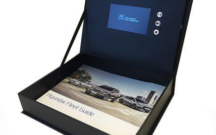 4.3inch Video Packaging Box lcd video brochure box