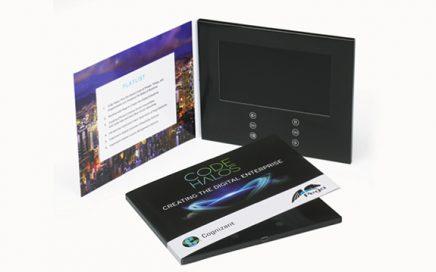 7 inch screen Video in folder video book lcd video brochure