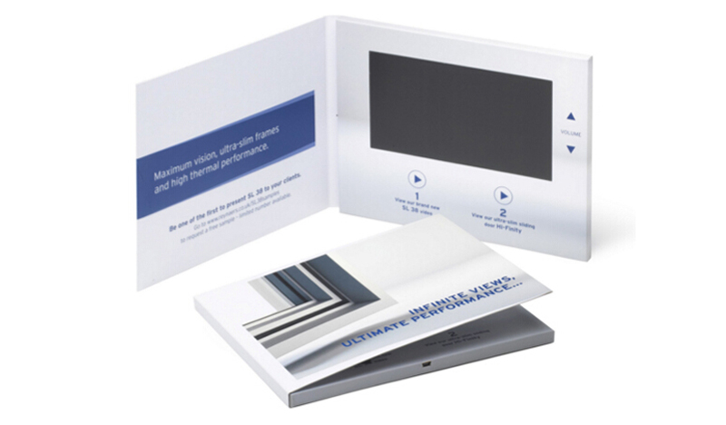 New Product Launch Custom 5 Inch Lcd Video Business Cards Printed